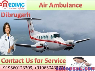 Get Best and Fast Air Ambulance by Medivic Aviation in Dibrugarh