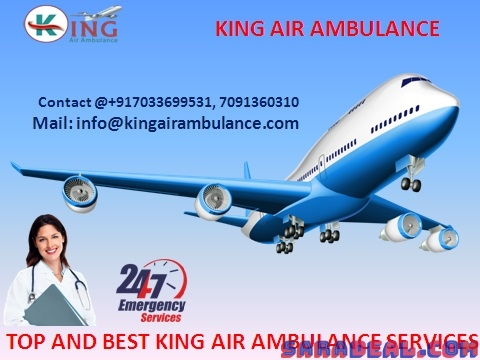 King Air Ambulance Guwahati to Delhi Price Very Low