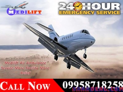 Now Best and Safest Medical Charted Air Ambulance in Kolkata – Medilift