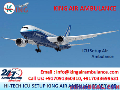 Get Finest and World-Class Air Ambulance in Ranchi by King