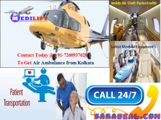 Hire Renewed Air Ambulance in Kolkata with Advanced Tools