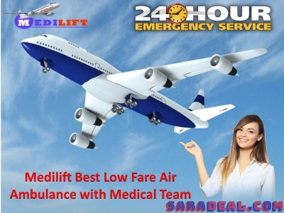 Anytime Take Medilift Air Ambulance Service in Bagdogra