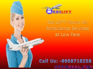 Choose Medilift Complete Facility Air Ambulance in Patna at an Economical Fare