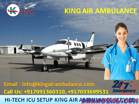 Get ICU Services by King Air Ambulance in Patna at Low Cost