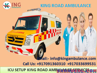 Top & Hi-Tech Ambulance Service in Patna-King Road Ambulance
