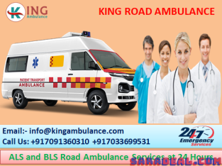 King Hi-Tech ICU Ambulance Service in Rajendra Nagar Patna at 24 Hrs
