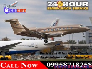 Get Medical Charter Air Ambulance Service in Dibrugarh with ICU Facility