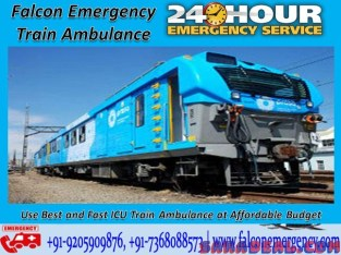 Falcon Emergency Train Ambulance Facilities in Bangalore with Amazing and Unique Facility
