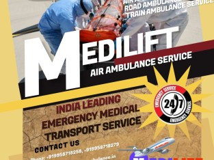 Get the Exclusive & Superb Air Ambulance Service in Kolkata by Medilift