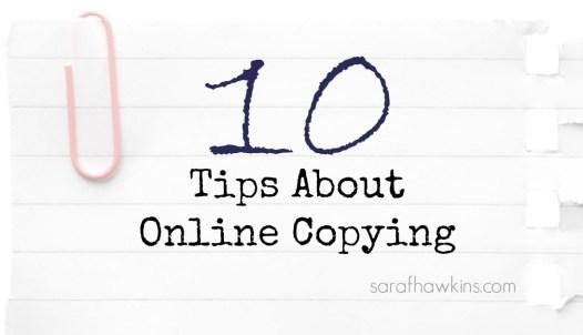 Online Copying