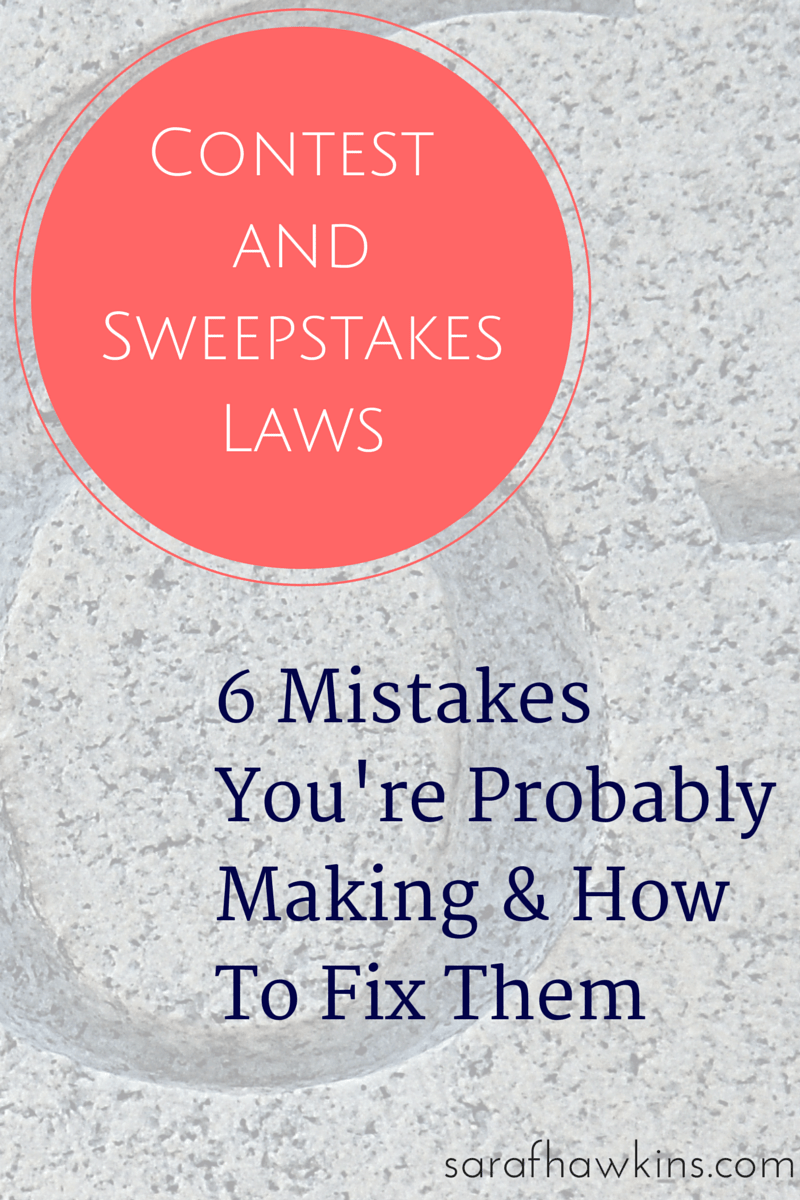 sweepstakes laws and regulations contests and sweepstakes law mistakes how to fix them 7534