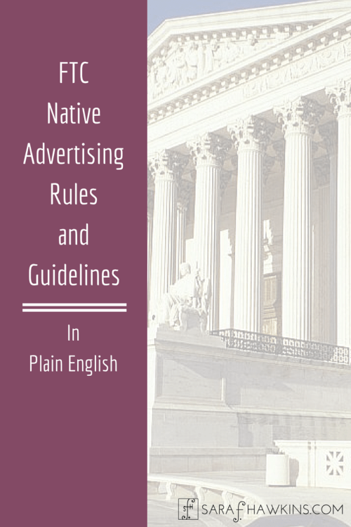 Native Advertising Rules