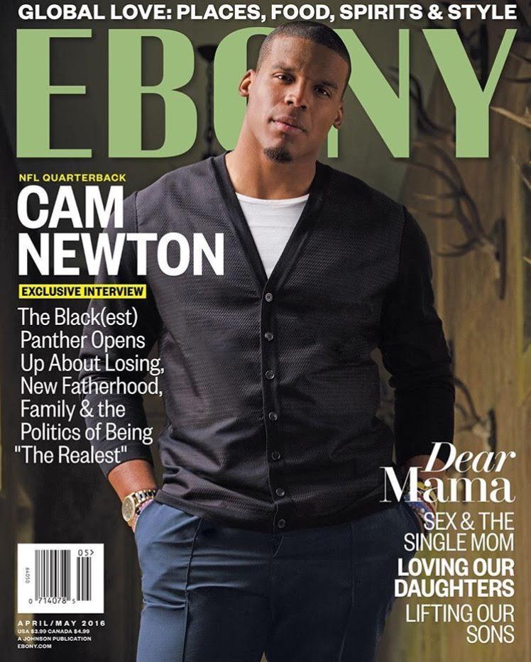 Cam Newton Covers Ebony