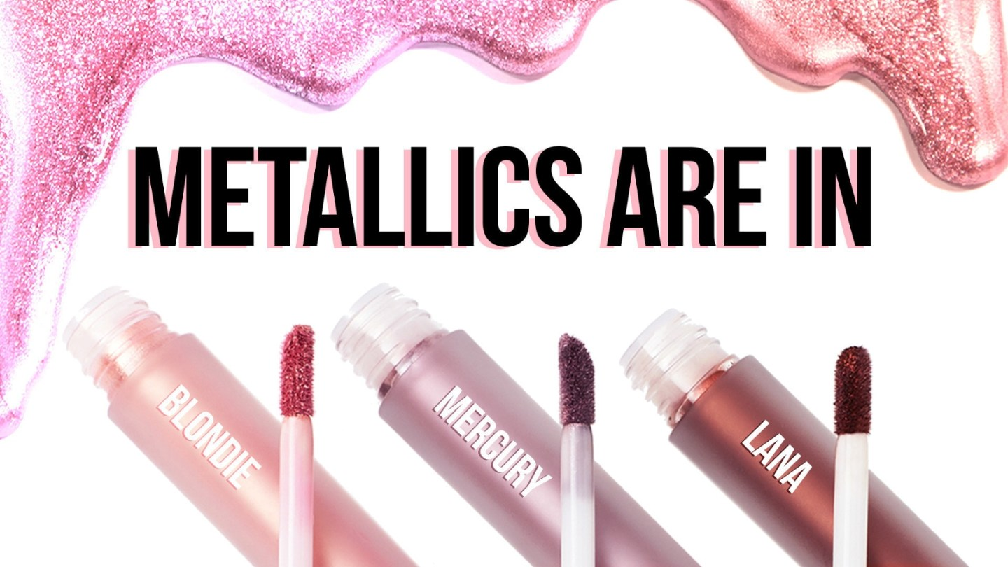 Lime Crime: New Metallic Velvetines Lipsticks