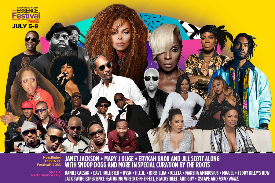ESSENCE Festival 2018 Line-Up with Janet Jackson, Mary J. Blige & More!
