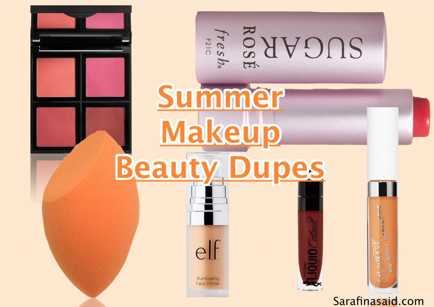 Summer Makeup Beauty Dupes