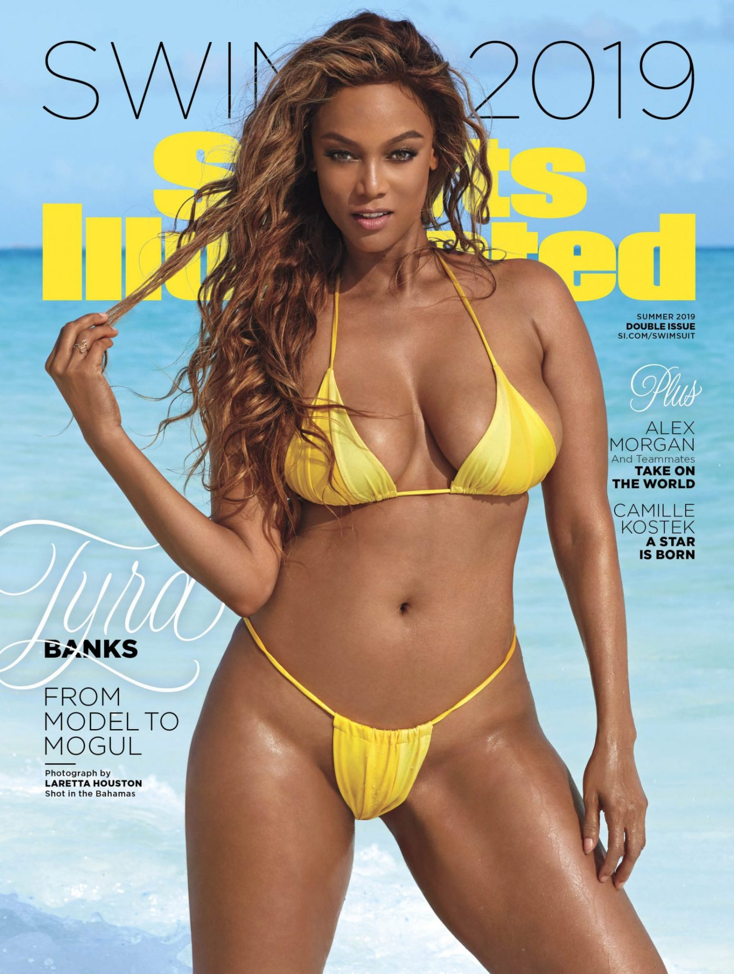 Tyra Banks Covers Sports Illustrated 20 Years Later
