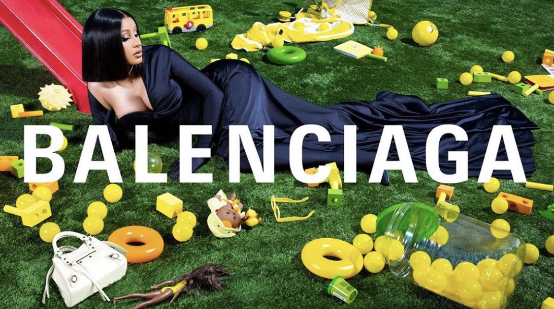 Cardi B on the Louvre for New Balenciaga Campaign