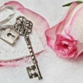 Sara Grillo - valentines day rose and key