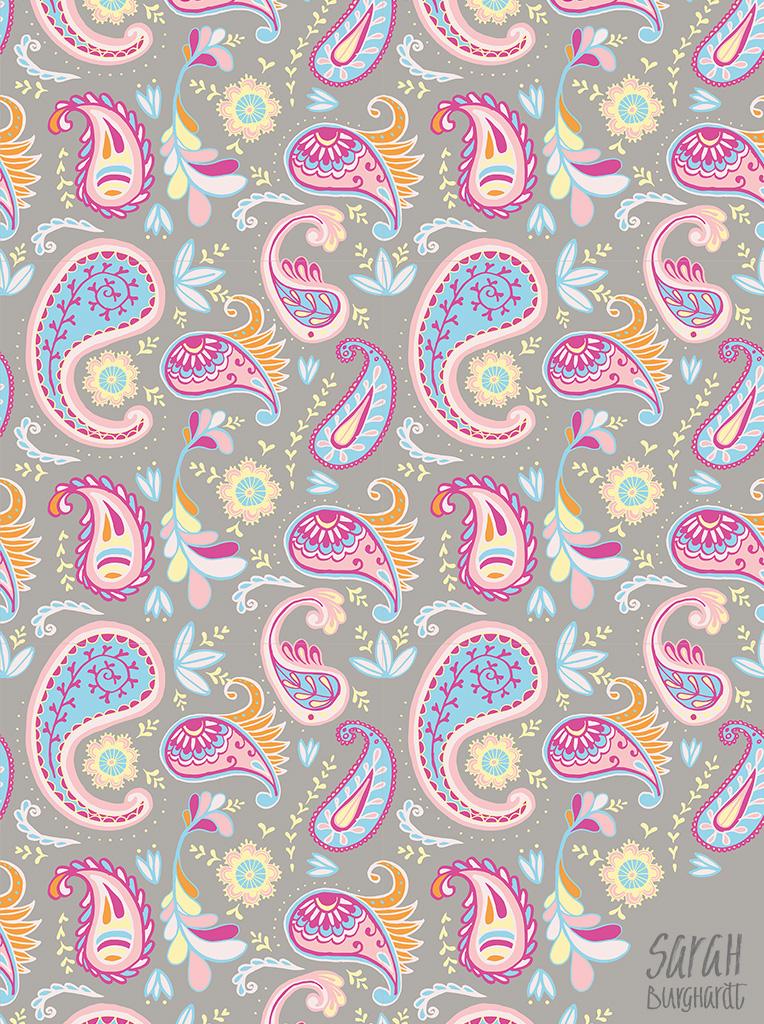 Paisley Pattern by sarah burghardt