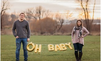 Pregnancy Announcement Photography Session in Livingston County MI