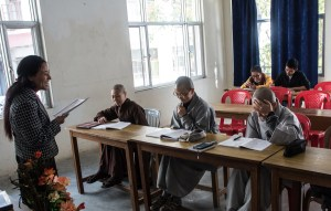 Foreign students studying Tibetan
