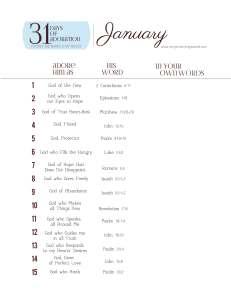 31DaysofAdorationJanuary1-15