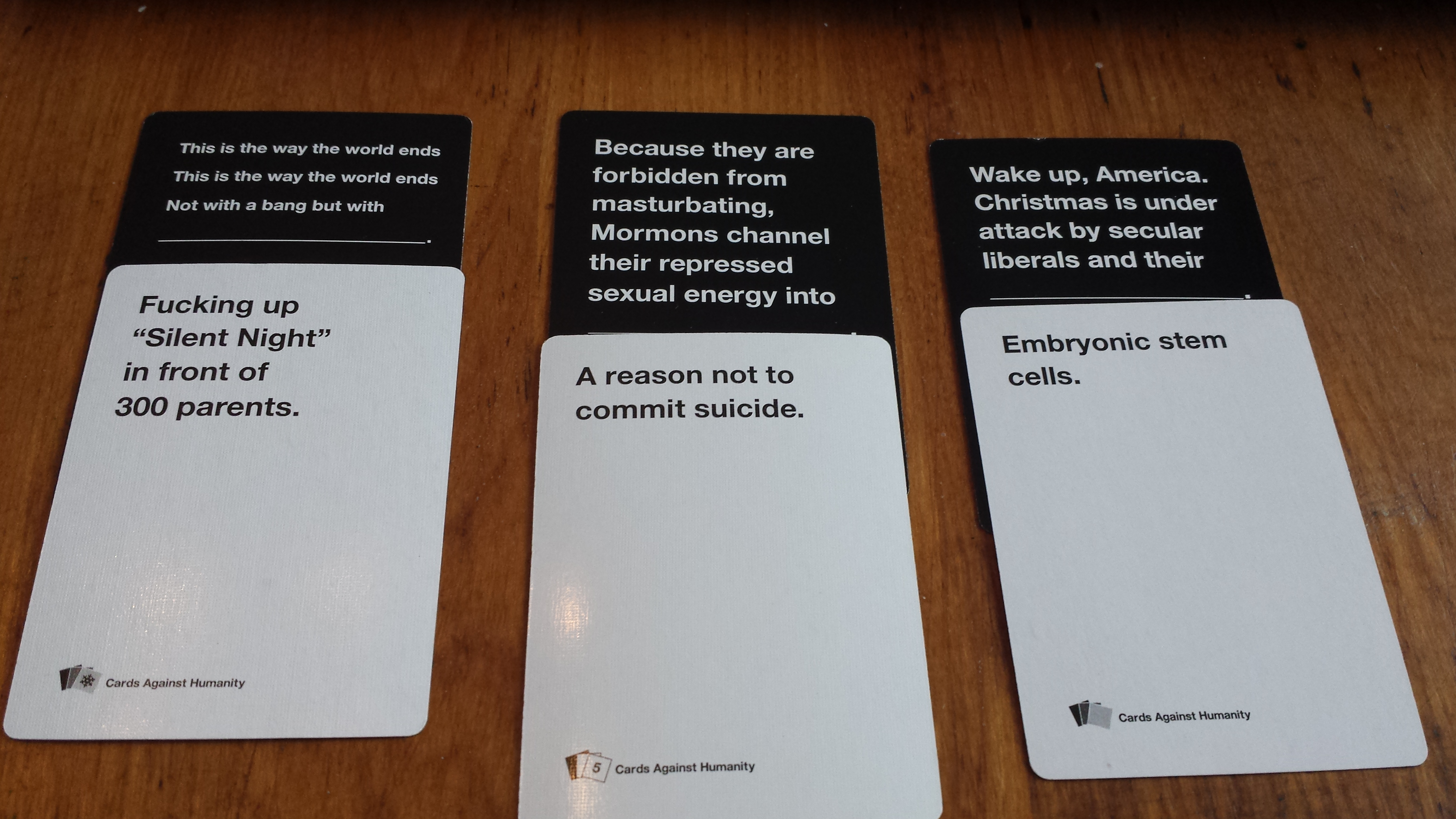 Cards Against Humanity Is It For You The FIMS Gaming Club
