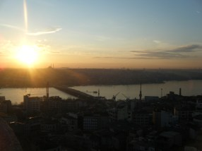 The top of Galata Tower