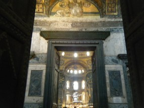 The Imperial Doorway in the Hagia Sophia