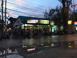 Locals at Nai Yang Beach dancing to Thai music in the street the evening of Songkran. They looked so happy and un-self-conscious.