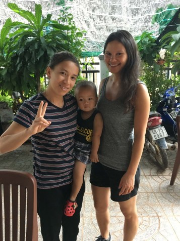 The lovely woman who ran our An Thoi hotel, who invited us to eat with her family on our last day.