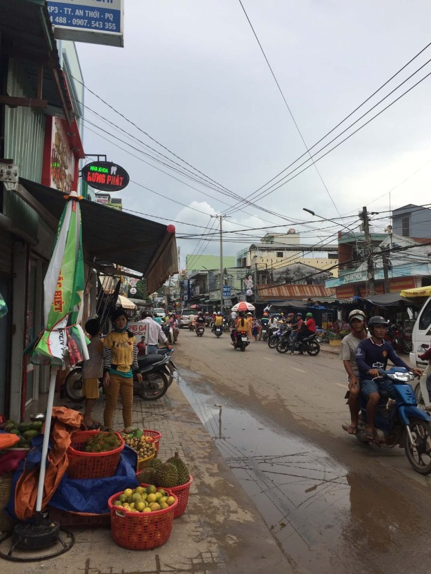 Walking around An Thoi. We loved going for walks and exploring the small alleys and exotic produce stalls.