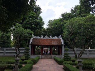 The Temple of Literature, where many parts date back to 1070. It was surreal to think about, especially being used to young Canada.