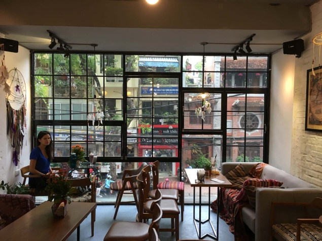 One of many cute cafes we have spent afternoons in, reading and drinking Vietnamese coffee and smoothies.