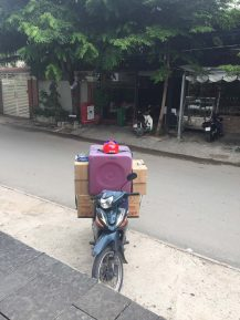 Typical scooter load.