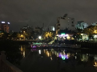 Night activities along the river.