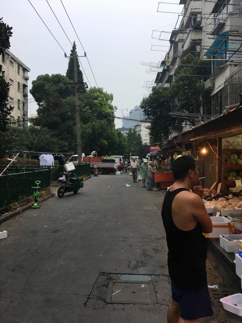 Small evening market in Huangpu, near our second apartment.