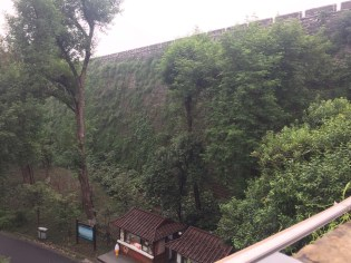Nanjing's city wall was the longest in the world at time of construction (1390) and the remaining portions extend about 25km.