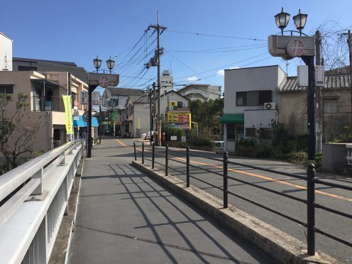 We walk this way to the local supermarket. The streets are so clean and quiet.