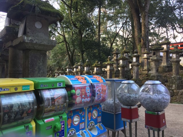 No shrine is complete without - capsule toys!