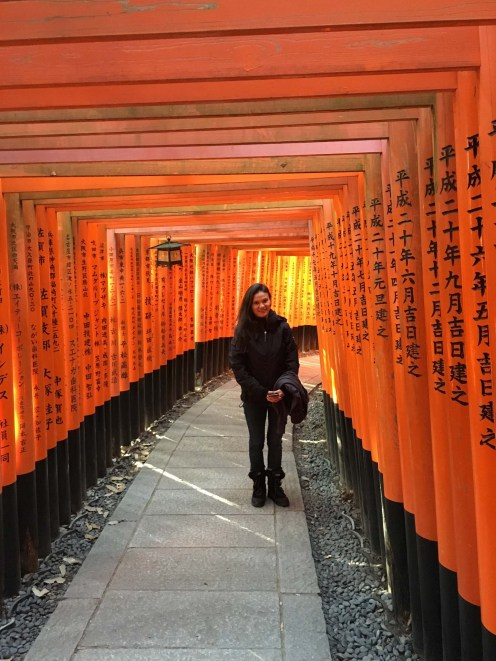 Thousands of Torii gates line the shrine's paths.