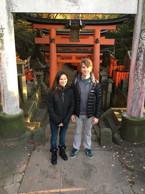World famous Fushimi Inari Shrine in Kyoto.