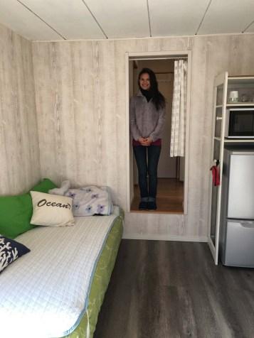 Sarah in our Yokohama apartment