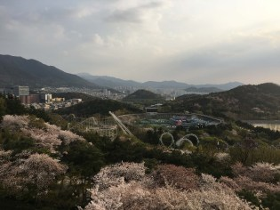 Looking down over E-world and Daegu.