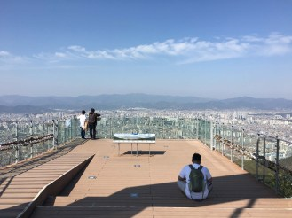 Observation deck at the top of Mt. Apsan overlooking Daegu.