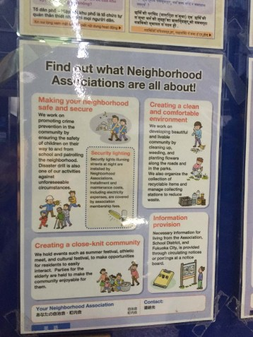 Neighborhood Association poster.