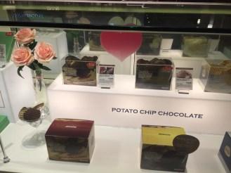 Potato chip chocolates.