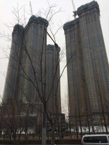 Dystopian apartment buildings.