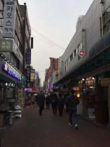 Amazing food street. We love Korean food...meals are under $10.